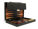 picture of Zaza & Sacci® Leather Backgammon Set - Model ZS-242 - Travel - Black Lizard (10 of 12)