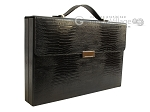 Zaza & Sacci® Leather Backgammon Set - Model ZS-242 - Travel - Black Lizard - Item: 2457