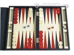 Zaza & Sacci® Leather Backgammon Set - Model ZS-242 - Travel - Blue