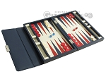 picture of Zaza & Sacci® Leather Backgammon Set - Model ZS-242 - Travel - Blue (2 of 12)