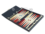 picture of Zaza & Sacci® Leather Backgammon Set - Model ZS-242 - Travel - Blue (3 of 12)