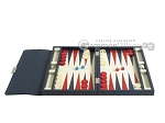 picture of Zaza & Sacci® Leather Backgammon Set - Model ZS-242 - Travel - Blue (4 of 12)