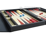 picture of Zaza & Sacci Leather Backgammon Set - Model ZS-242 - Travel - Blue (5 of 12)