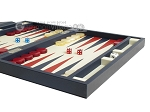 picture of Zaza & Sacci® Leather Backgammon Set - Model ZS-242 - Travel - Blue (6 of 12)