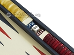 picture of Zaza & Sacci® Leather Backgammon Set - Model ZS-242 - Travel - Blue (9 of 12)