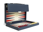 picture of Zaza & Sacci® Leather Backgammon Set - Model ZS-242 - Travel - Blue (10 of 12)