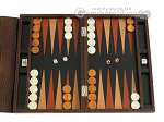 picture of Zaza & Sacci® Leather Backgammon Set - Model ZS-242 - Travel - Brown Lizard (1 of 12)