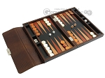 picture of Zaza & Sacci® Leather Backgammon Set - Model ZS-242 - Travel - Brown Lizard (2 of 12)