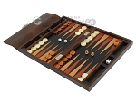 picture of Zaza & Sacci® Leather Backgammon Set - Model ZS-242 - Travel - Brown Lizard (3 of 12)