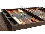 picture of Zaza & Sacci® Leather Backgammon Set - Model ZS-242 - Travel - Brown Lizard (5 of 12)