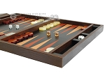 picture of Zaza & Sacci® Leather Backgammon Set - Model ZS-242 - Travel - Brown Lizard (6 of 12)