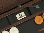 picture of Zaza & Sacci® Leather Backgammon Set - Model ZS-242 - Travel - Brown Lizard (7 of 12)
