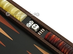 picture of Zaza & Sacci® Leather Backgammon Set - Model ZS-242 - Travel - Brown Lizard (9 of 12)