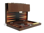 picture of Zaza & Sacci® Leather Backgammon Set - Model ZS-242 - Travel - Brown Lizard (10 of 12)