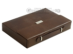picture of Zaza & Sacci® Leather Backgammon Set - Model ZS-242 - Travel - Brown Lizard (11 of 12)