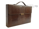 Zaza & Sacci® Leather Backgammon Set - Model ZS-242 - Travel - Brown Lizard - Item: 2460