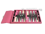 picture of Zaza & Sacci® Leather Backgammon Set - Model ZS-242 - Travel - Pink (4 of 12)