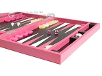picture of Zaza & Sacci Leather Backgammon Set - Model ZS-242 - Travel - Pink (6 of 12)