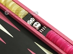 picture of Zaza & Sacci Leather Backgammon Set - Model ZS-242 - Travel - Pink (9 of 12)