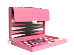 picture of Zaza & Sacci® Leather Backgammon Set - Model ZS-242 - Travel - Pink (10 of 12)