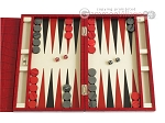 picture of Zaza & Sacci® Leather Backgammon Set - Model ZS-242 - Travel - Red Croco (1 of 12)