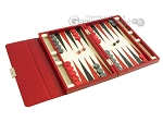 picture of Zaza & Sacci® Leather Backgammon Set - Model ZS-242 - Travel - Red Croco (2 of 12)