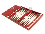 picture of Zaza & Sacci® Leather Backgammon Set - Model ZS-242 - Travel - Red Croco (3 of 12)