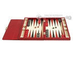 picture of Zaza & Sacci® Leather Backgammon Set - Model ZS-242 - Travel - Red Croco (4 of 12)