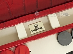 picture of Zaza & Sacci® Leather Backgammon Set - Model ZS-242 - Travel - Red Croco (7 of 12)