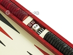 picture of Zaza & Sacci® Leather Backgammon Set - Model ZS-242 - Travel - Red Croco (9 of 12)