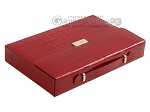 picture of Zaza & Sacci Leather Backgammon Set - Model ZS-242 - Travel - Red Croco (11 of 12)