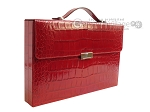 Zaza & Sacci® Leather Backgammon Set - Model ZS-242 - Travel - Red Croco - Item: 2459