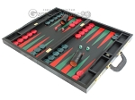 picture of Zaza & Sacci® Leather Backgammon Set - Model ZS-612 - Large - Black Lizard II (3 of 12)