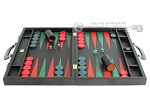 picture of Zaza & Sacci® Leather Backgammon Set - Model ZS-612 - Large - Black Lizard II (4 of 12)