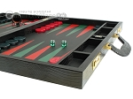 picture of Zaza & Sacci® Leather Backgammon Set - Model ZS-612 - Large - Black Lizard II (6 of 12)