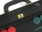 picture of Zaza & Sacci® Leather Backgammon Set - Model ZS-612 - Large - Black Lizard II (7 of 12)