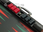picture of Zaza & Sacci® Leather Backgammon Set - Model ZS-612 - Large - Black Lizard II (9 of 12)