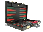 picture of Zaza & Sacci Leather Backgammon Set - Model ZS-612 - Large - Black Lizard II (10 of 12)