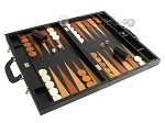 picture of Zaza & Sacci Leather Backgammon Set - Model ZS-612 - Large - Black Lizard (2 of 12)