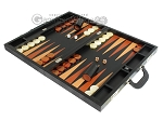 picture of Zaza & Sacci Leather Backgammon Set - Model ZS-612 - Large - Black Lizard (3 of 12)