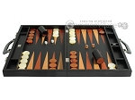 picture of Zaza & Sacci Leather Backgammon Set - Model ZS-612 - Large - Black Lizard (4 of 12)