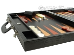 picture of Zaza & Sacci Leather Backgammon Set - Model ZS-612 - Large - Black Lizard (5 of 12)