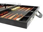picture of Zaza & Sacci Leather Backgammon Set - Model ZS-612 - Large - Black Lizard (6 of 12)