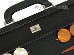 picture of Zaza & Sacci Leather Backgammon Set - Model ZS-612 - Large - Black Lizard (7 of 12)