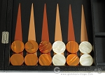 picture of Zaza & Sacci® Leather Backgammon Set - Model ZS-612 - Large - Black Lizard (8 of 12)