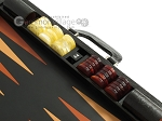 picture of Zaza & Sacci Leather Backgammon Set - Model ZS-612 - Large - Black Lizard (9 of 12)