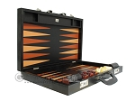 picture of Zaza & Sacci Leather Backgammon Set - Model ZS-612 - Large - Black Lizard (10 of 12)