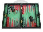Zaza & Sacci Leather/Microfiber Backgammon Set - Model ZS-305 - Small - Black