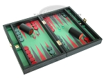 picture of Zaza & Sacci Leather/Microfiber Backgammon Set - Model ZS-305 - Small - Black (2 of 12)