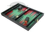 picture of Zaza & Sacci Leather/Microfiber Backgammon Set - Model ZS-305 - Small - Black (3 of 12)